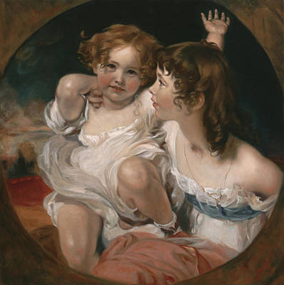 Wall Art - Painting - Master Copy Of Sir Thomas Lawrence The Calmady Children by Terry Guyer