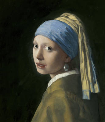 Master Copy Of Vermeer Girl With A Pearl Earring Art Print by Terry Guyer