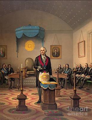 Art Lithographs Photograph - Master Freemason Washington 1870 by Padre Art