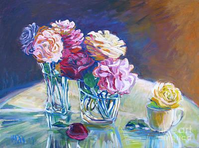 Bfa Painting - Master Gardener Roses by Vanessa Hadady BFA MA
