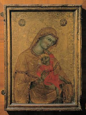 Master Of The Perugia Madonna, Madonna Art Print by Everett
