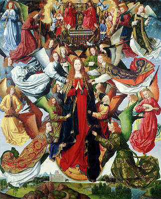 Queen Mary Painting - Master Of The Saint Lucy Legend, Mary, Queen Of Heaven by Litz Collection