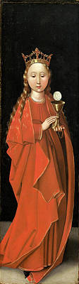 Saint Barbara Painting - Master Of The Starck Triptych German by Quint Lox
