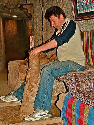 Master Potter Photograph - Master Potter At Work In Avanos-turkey by Ruth Hager