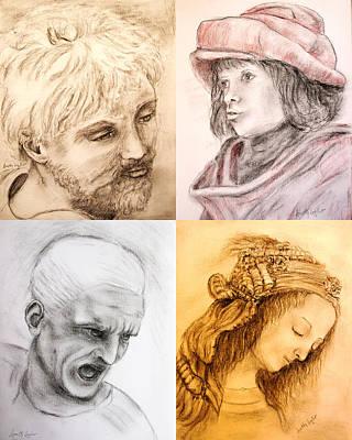 Drawing - Master Studies by Loretta Luglio