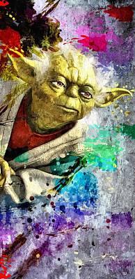 Character Portraits Painting - Master Yoda by Daniel Janda