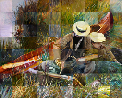 Plein Air Artists Painting - Masterpiece 1 by 80 Artists