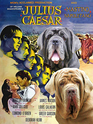 Painting - Mastino Napoletano - Neapolitan Mastiff Art Canvas Print - Julius Caesar Movie Poster by Sandra Sij