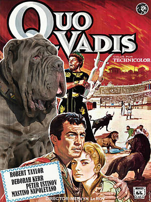 Painting - Mastino Napoletano - Neapolitan Mastiff Art Canvas Print - Quo Vadis Movie Poster by Sandra Sij