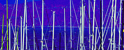 Photograph - Masts 2 by Laurie Tsemak