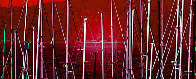 Photograph - Masts by Laurie Tsemak