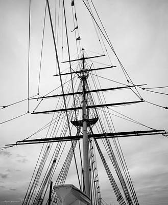 Art Print featuring the photograph Masts Of The Cutty Sark by Ross Henton