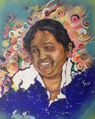 Painting - Mata Amritanandamayi @ Erikfranco1.com by Erik Franco