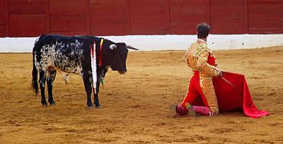 Matador Kneeling  Art Print by Dave Dos Santos