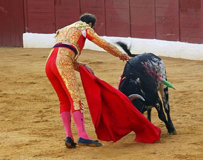 Matador Stabbing Bull Art Print by Dave Dos Santos