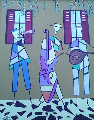 Matadores Of Music Lll Art Print by Lew Griffin