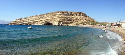 Photograph - Matala Bay In Summer by Paul Cowan