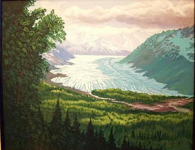 Matanuska Painting - Matanuska Glacier 1980's by Terry  Phillips