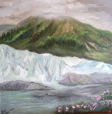 Matanuska Painting - Matanuska Glacier by Terry  Phillips