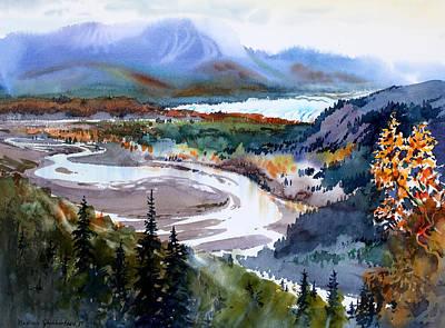 Matanuska Painting - Matanuska Glacier by Vladimir Zhikhartsev