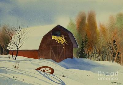 Matanuska Painting - Matanuska Valley Barn by Teresa Ascone