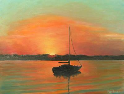 St. Augustine Florida Painting - Matanzas Bay Sunrise by Patty Weeks
