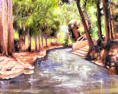Mataranka Hot Springs Art Print