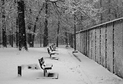 Art Print featuring the photograph Match Called For Snow by Andy Lawless