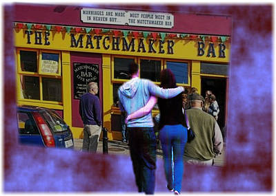 Photograph - Matchmaking In Lisdoonvarna Clare by Val Byrne