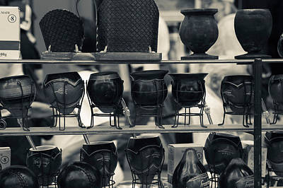 Mate Cups At A Market Stall, Plaza Art Print