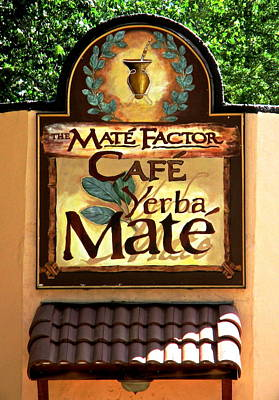 Photograph - Mate Factor Cafe by Jeff Gater