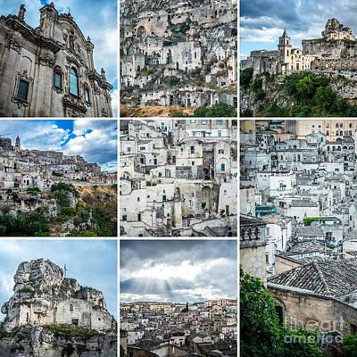 Basilicata Photograph - Matera Collage by Sabino Parente