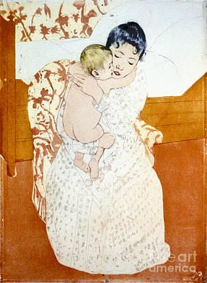 Intaglio Photograph - Maternal Caress 1891 by Padre Art