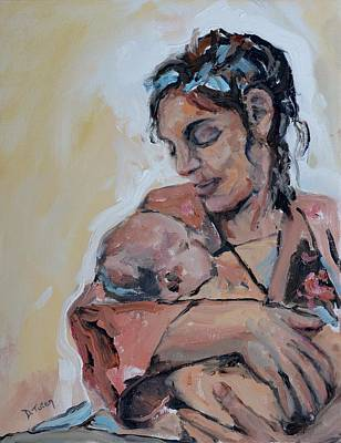 Mother Painting - Maternal Love by Donna Tuten