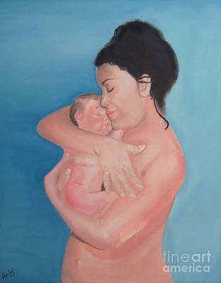 Maternidad / Motherhood Art Print by Angela Melendez