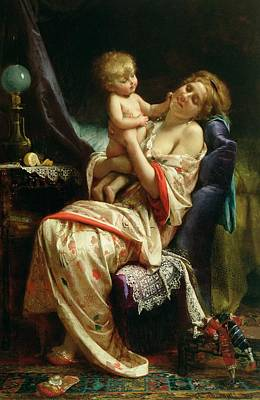 Dressing Painting - Maternity by Leon Bazile Perrault