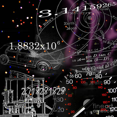 Math Science Invention Art Print by R Kyllo