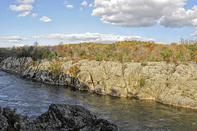 Mather Gorge In Autumn Art Print by Francis Sullivan