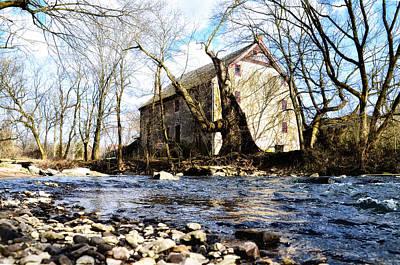 Mather Digital Art - Mather Mill Fort Washington Pa by Bill Cannon
