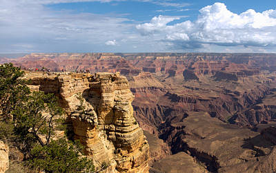Photograph - Mather Point At The Grand Canyon by John M Bailey