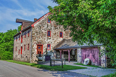 Mather Digital Art - Mathers Mill In Fort Washington Pa by Bill Cannon