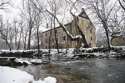 Mather Digital Art - Mathers Mill In Winter by Bill Cannon