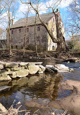 Creek Photograph - Mather's Mill Near Fourtown Pa. by Bill Cannon