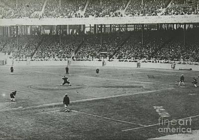 Photograph - Mathewson Pitching The Ball World Series by R Muirhead Art