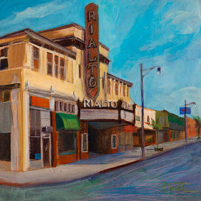 Historic Architecture Painting - Matinee by Athena  Mantle