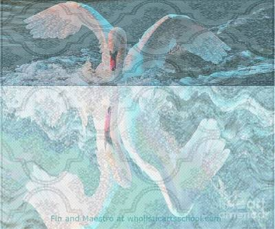 Mating Dance Of The Swan Print by PainterArtist FIN