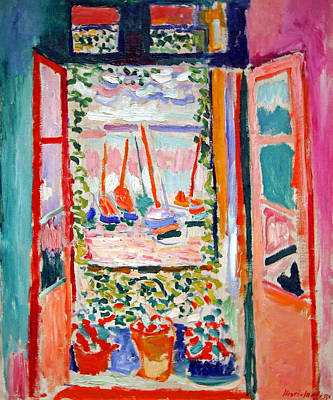 Matisse's Open Window At Collioure Art Print by Cora Wandel