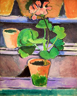 Matisse's Pot Of Geraniums Art Print by Cora Wandel