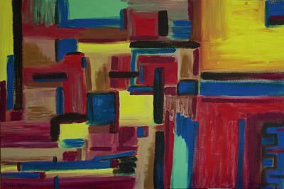 The Universe Painting - Matrix 2004 by Drea Jensen