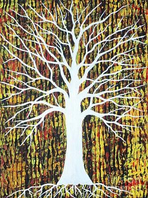Matrix Painting - Matrixing Tree The Chamber  by JoNeL Art